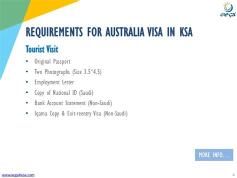 Aus Mba Requirements For Foreign by Visa Requirements Saudi Arabia To Australia Tourist Visit