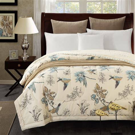 Lovely Bed Cover 1pcs cotton the lovely bird bedspread quilt summer duvet quilt 150x200cm and 200x230cm cotton