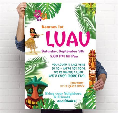 Hawaiian Luau Flyer luau flyers paso evolist co