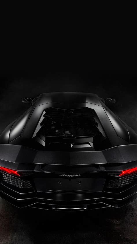 black lamorghini aventador  engine view iphone