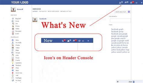 new themes on facebook oxwall theme review facebook theme