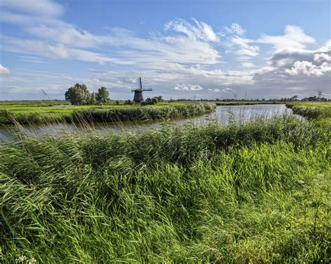 netherlands scenery rivers sky edam grass nature