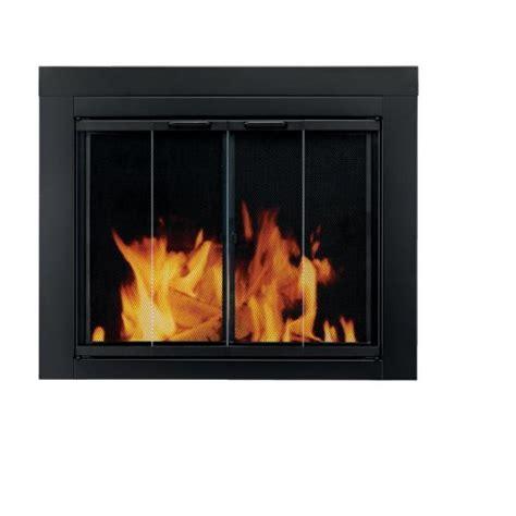 Cheap Fireplace Glass Doors Cheap Pleasant Hearth At 1002 Ascot Fireplace Glass Door Black Large Cheap Home Save 200