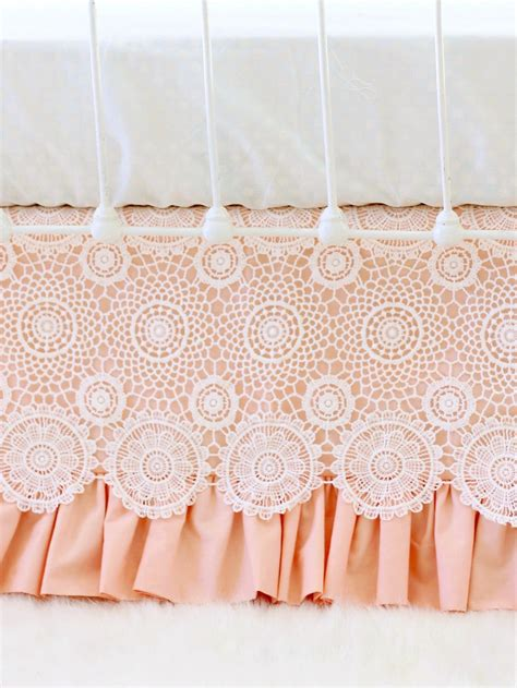 Lace Crib Skirt by Crochet Lace Crib Skirt Lottie Da Baby Baby Bedding