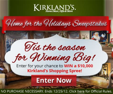 Home For The Holidays Sweepstakes - kirkland s home for the holidays sweepstakes