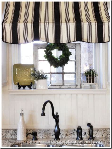 bistro awning 8 ways to dress up the kitchen window without using a