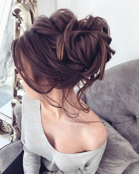 messy updo for long hair that take 5 minutes 11 pretty hairstyle ideas for women with thin hair messy