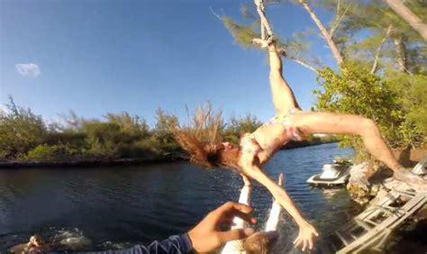 rope swings in florida yikes rope swing disaster in key west florida as female