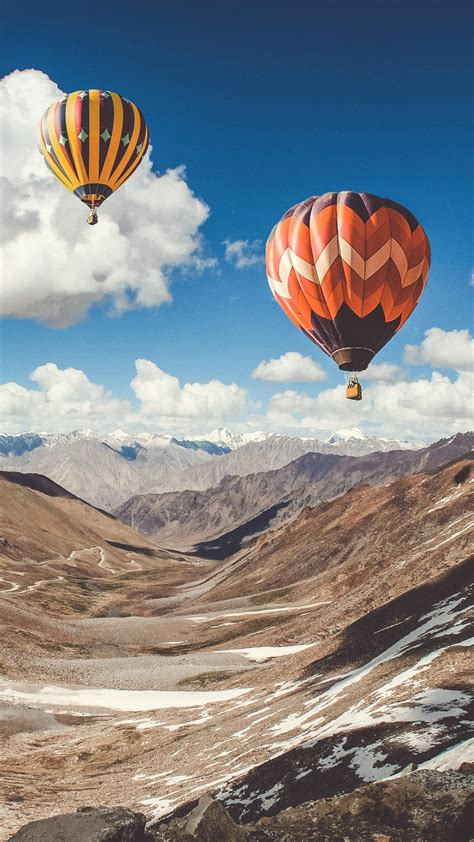 hot air balloon ride  leh mountains  wallpapers hd
