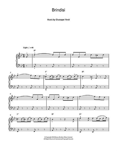 brindisi la traviata brindisi from la traviata sheet music by giuseppe verdi
