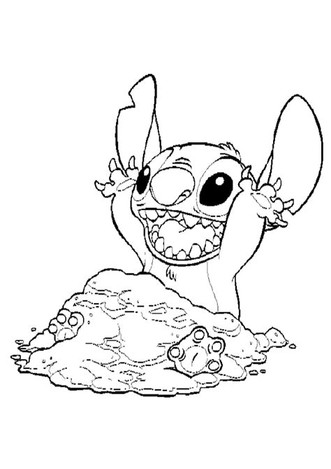 stitch coloring page az coloring pages