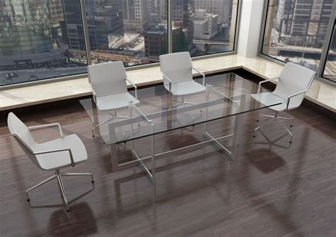 Glass Meeting Table Modern Glass Steel Conference Table Ambience Dor 233