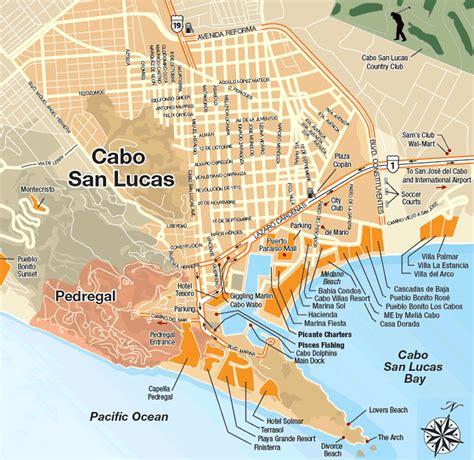 map of cabo san lucas area maps cielito lindo destination managment company