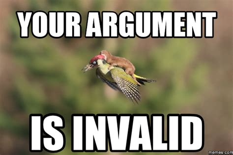 Meme Your Argument Is Invalid - your argument is invalid memes com