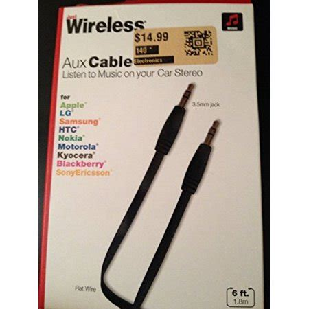 10 ft aux cable walmart aux cable 3 5mm flat wire 6 ft by just wireless