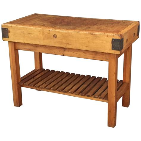 large butcher s block on stand at 1stdibs - Butcher Block Stand