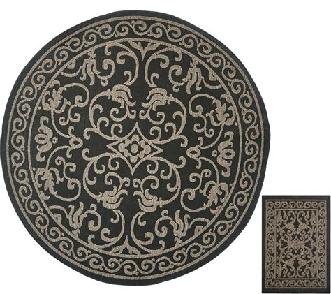 Qvc Outdoor Rugs Veranda Living 84 Quot Indoor Outdoor Scroll Rug With Bonus Doormat Page 1 Qvc