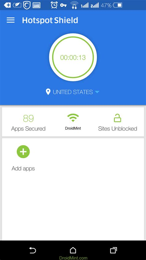 hotspot shield vpn elite 4 1 1 mod apk free droidmint - Hotspot Shield Vpn Version Apk