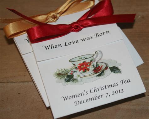 poinsettia design teacup tea favors for christmas event
