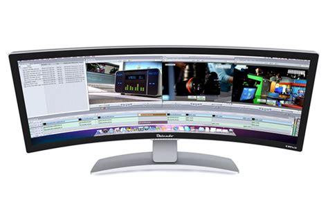 Curved Desk Top worlds curved desktop monitor