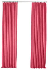 Pink Linen Curtains Bright Pink Linen Pleated Curtain Single Panel Contemporary Curtains By Loom Decor