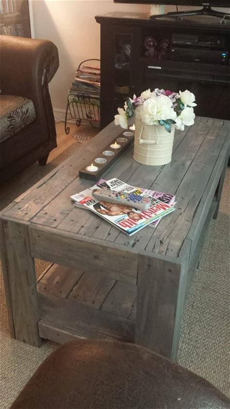 diy wood pallet coffee table easy pallet ideas