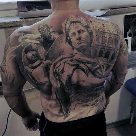roman tattoo history antic like roman empire themed tattoo on whole back