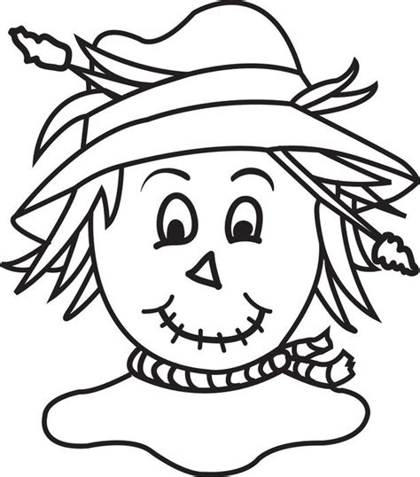 printable coloring pages scarecrow free printable scarecrow coloring page for kids