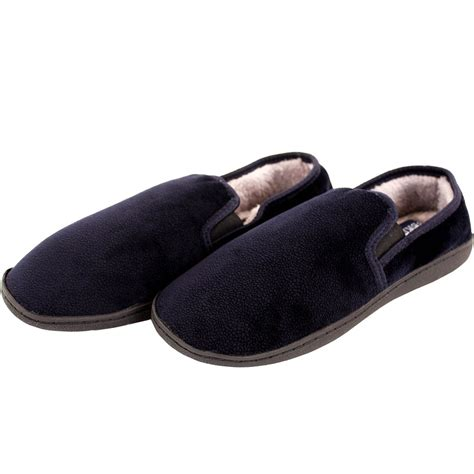 furry house slippers mens slippers house shoes faux fur lined slip on fleece