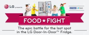 Lg Refrigerator Sweepstakes - lg electronics usa door in door refrigerator food fight sweepstakes win an lg door