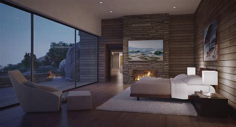 bedroom view modern bedroom with view by fire light interior design