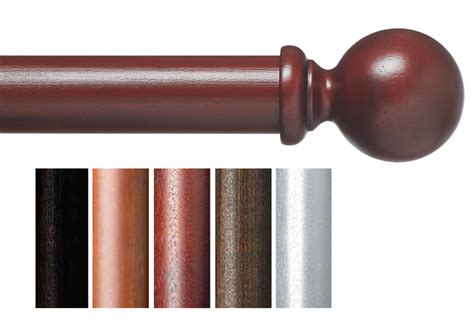 extra long wood curtain rods custom 1 3 8 quot plantation wood curtain rod in 5 finishes extra long available smooth ball