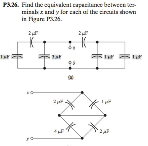 what is the equivalent capacitance of the three capacitors in the figure 20 60 10 p3 26 find the equivalent capacitance between term chegg