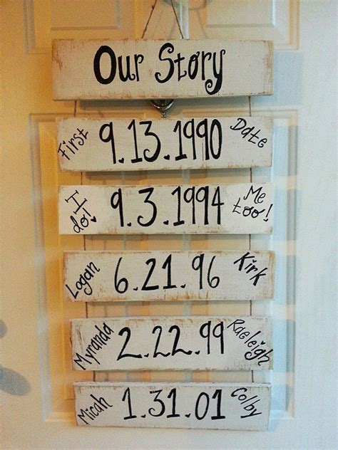 doing my best for him organizing the 5th wheel kitchen our story important dates wood sign from