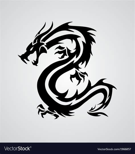 tribal dragon royalty free vector image vectorstock