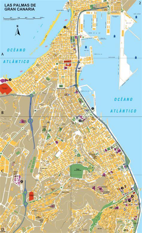 Cartes de Las Palmas de Gran Canaria Cartes typographiques détaillées de Las Palmas de Gran