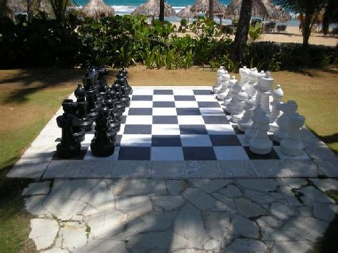 life size chess life size chess board picture of excellence punta cana