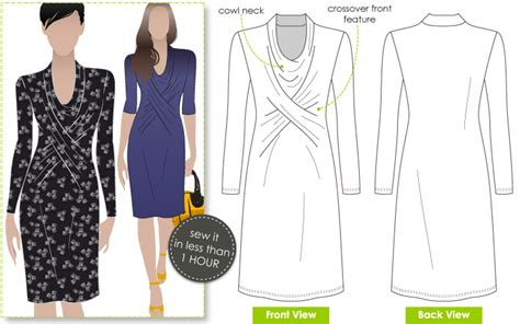 dress pattern for jersey knit stylearc marita knit dress