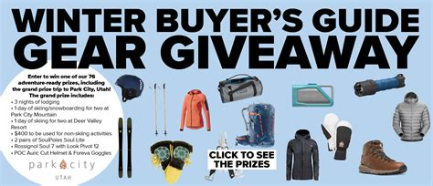 magazine sweepstakes outside magazine winter buyer s guide sweepstakes 85