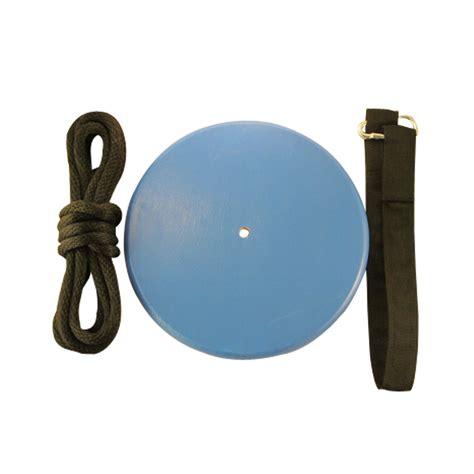 wooden disc swing blue wood disc swing kit treeswingstore com