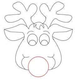 reindeer felt template rudolph reindeer craft for coloring responses on