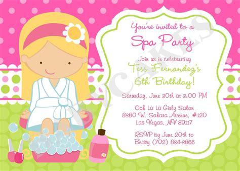 free printable birthday invitations spa theme spa party birthday invitation invite spa birthday by