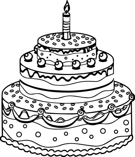 Coloring Page Birthday Cake by Cake Coloring Pages Coloringsuite