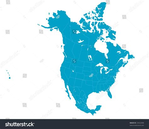 united states and canada map vector america map including us mexico stock vector