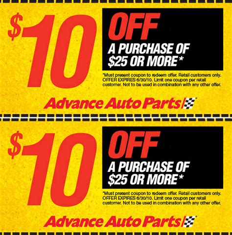 advance auto parts coupons store