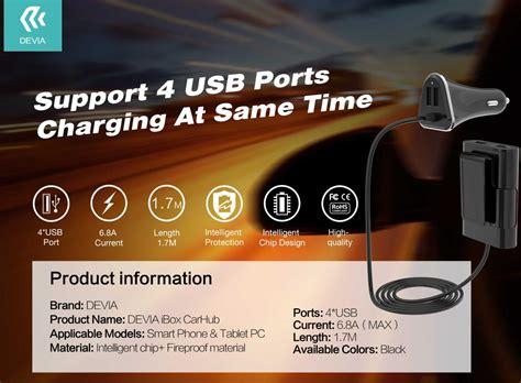 Charger 3 Di Ibox devia ibox car hub usb charger 6 8a 6 8a 4xusb