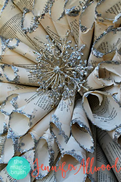 Glitter Book For make a vintage book wreath with glitter