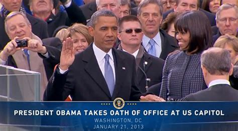 President Oath Of Office by Second Inaugural Address Barack Obama 2013