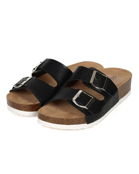 sandal footbed carvil walter 01 new breckelles fannie 01 leatherette buckle