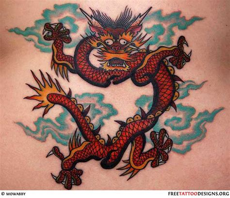 small chinese dragon tattoo gallery